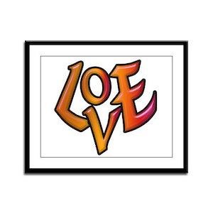 Orange Love Framed Panel Print