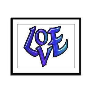 Blue Love Framed Panel Print