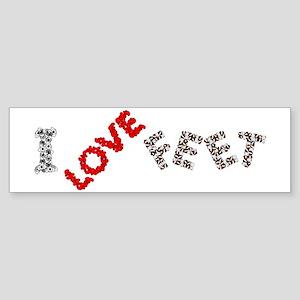 I Love Feet Sticker (Bumper)