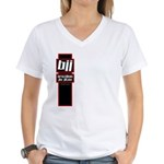 Jiu jitsu basics black red Women's V-Neck T-Shirt