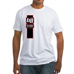 Jiu jitsu basics black red Fitted T-Shirt
