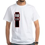 Jiu jitsu basics black red White T-Shirt