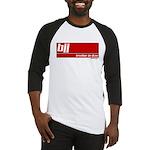 BJJ basics, white on red Baseball Jersey