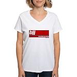 BJJ basics, white on red Women's V-Neck T-Shirt