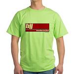BJJ basics, white on red Green T-Shirt