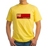 BJJ basics, white on red Yellow T-Shirt