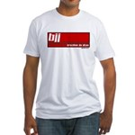 BJJ basics, white on red Fitted T-Shirt
