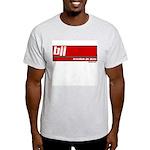 BJJ basics, white on red Light T-Shirt