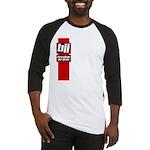 BJJ basics, red white black Baseball Jersey