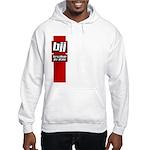 BJJ basics, red white black Hooded Sweatshirt