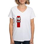 BJJ basics, red white black Women's V-Neck T-Shirt