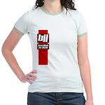 BJJ basics, red white black Jr. Ringer T-Shirt
