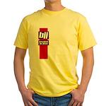 BJJ basics, red white black Yellow T-Shirt