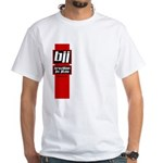 BJJ basics, red white black White T-Shirt