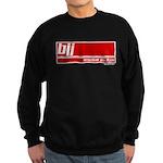 BJJ basics, white red Sweatshirt (dark)