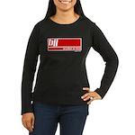 BJJ basics, white red Women's Long Sleeve Dark T-S
