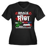 Dan Hyatt MMA Women's Plus Size V-Neck Dark T-Shir