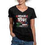 Dan Hyatt MMA Women's V-Neck Dark T-Shirt