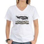 Whale Oil Beef Hooked Women's V-Neck T-Shirt