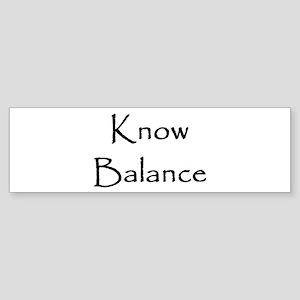 Know Balance Bumper Sticker