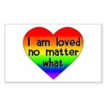 I am loved no matter what Sticker (Rectangle 50 pk