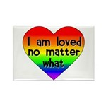I am loved no matter what Rectangle Magnet (100 pa