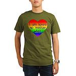 I am loved no matter what Organic Men's T-Shirt (d
