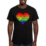 I am loved no matter what Men's Fitted T-Shirt (da