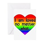 I am loved no matter what Greeting Cards (Pk of 10