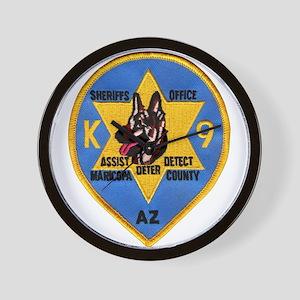 Maricopa Sheriff K9 Wall Clock