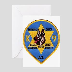 Maricopa Sheriff K9 Greeting Card
