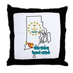 ILY Rhode Island Throw Pillow