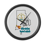 ILY Rhode Island Large Wall Clock
