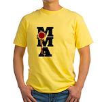 Mixed Martial Art Yellow T-Shirt