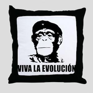 Viva La Evolucion Throw Pillow