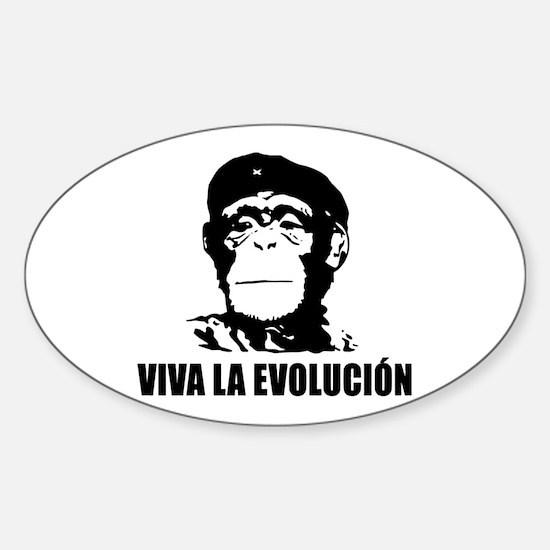 Viva La Evolucion Sticker (Oval)