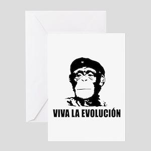 Viva La Evolucion Greeting Card