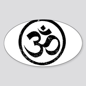 Om Aum Hindu Mantra Sticker (Oval)