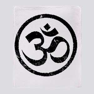 Om Aum Hindu Mantra Throw Blanket