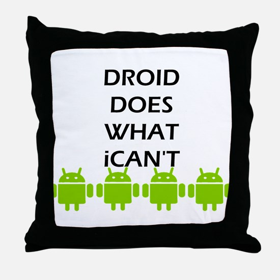 Cute Android Throw Pillow