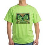 Ethnographic Mask Green T-Shirt