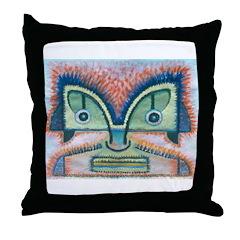 Ethnographic Mask Throw Pillow