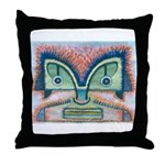 Ethnographic Mask Throw Pillow