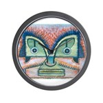Ethnographic Mask Wall Clock