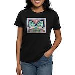 Ethnographic Mask Women's Dark T-Shirt