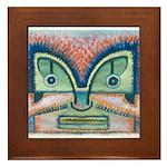 Ethnographic Mask Framed Tile