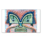 Ethnographic Mask Sticker (Rectangle 50 pk)