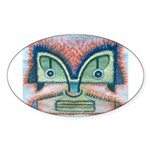 Ethnographic Mask Sticker (Oval)