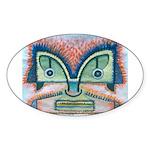Ethnographic Mask Sticker (Oval 10 pk)
