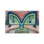 Ethnographic Mask Rectangle Magnet